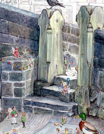 Fairy party on the wiggly steps
