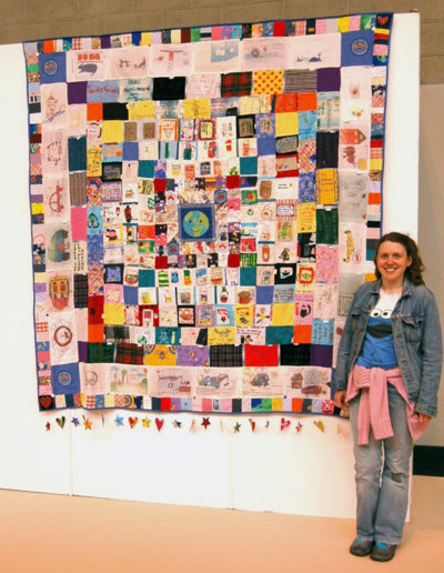 Burnley Rd School Quilt exhibited at The Festival of Quilts 2006