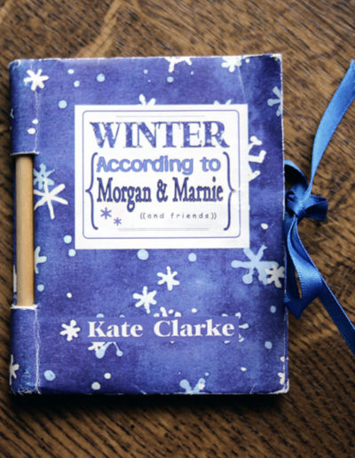 Winter according to Morgan and Marnie – folded cover and dowel construction