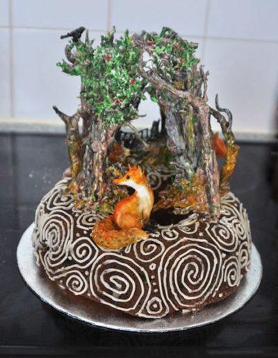 Wintertide celebration cake