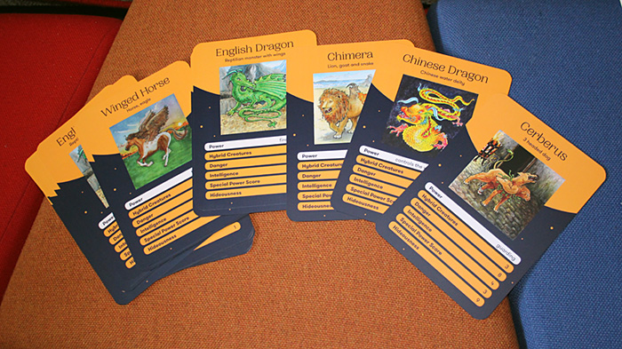 Top trumps pack - Illustrations by Kate Clarke, card design by Michael Lewis at The Archipelago