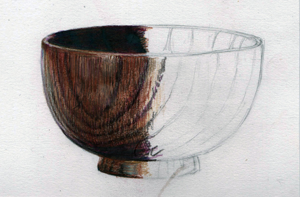Wooden bowl. Part worked demo piece from textures course