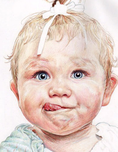 Baby. Part worked demo piece from portraits course