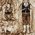 Little saints, watercolour on yupo
