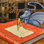 Dragon character for John Rylands University library competition