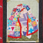 Peekaboo art quilt 2004, hand-pieced and hand-painted centre panel
