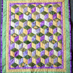 Traditional paper pieced, hand-sewn, English patchwork Christening quilt