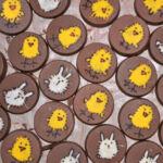 Hand painted milk chocolate discs