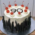 90th birthday gateau, top