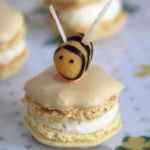 Lemon and honey macarons