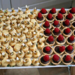 Macarons and chocolate tartlets