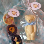Moulded white chocolate; hand-painted and decorated Easter creations