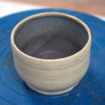 Wheel-thrown, burnished stoneware with glazed interior