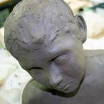 Stoneware clay head