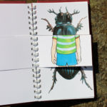 CCC book pages mixed, beetle and boy