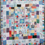 The full quilt. Every piece of fabric and all other materials used were made from recycled items collected by the children and their families and teachers